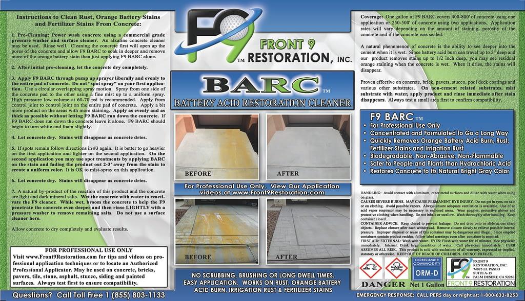 Label Image F9 BARC